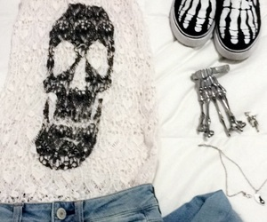 bones, outfit, and shoes image