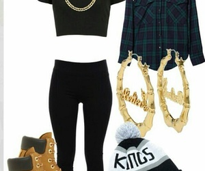 outfit, timberland, and swag image