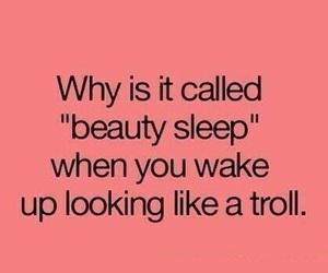 sleep, troll, and beauty image