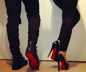 red, shoes, and black image