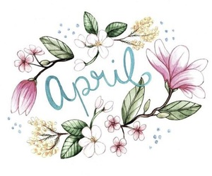 april, calligraphy, and art image