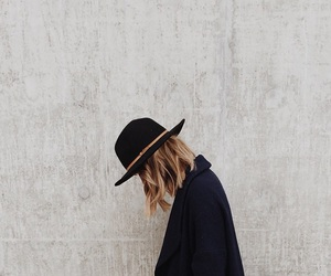 girl, black, and hat image
