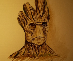 acuarela, sketch, and groot image