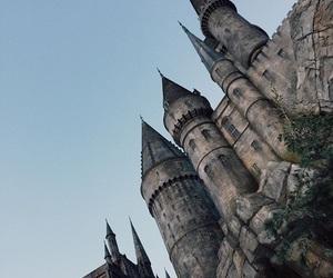 castle, harry potter, and hogwarts image
