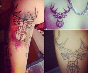 tattoo, sputnik, and deer image