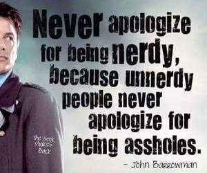 john barrowman, nerdy, and quote image