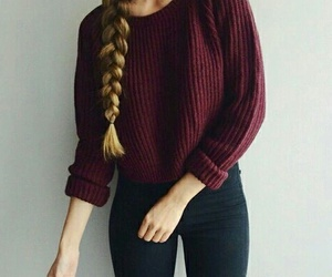 braids, red, and sweaters image