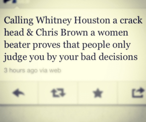 chris brown, tweet, and whitney houston image