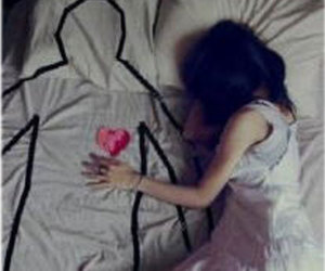 love, heart, and alone image