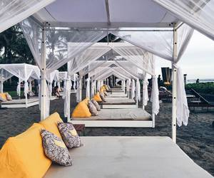 beach+yellow+summer, bed+chic+luxury, and white+photography image