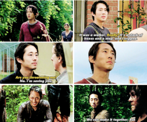 boy, the walking dead, and tv show image
