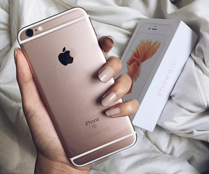 iphone, nails, and apple image