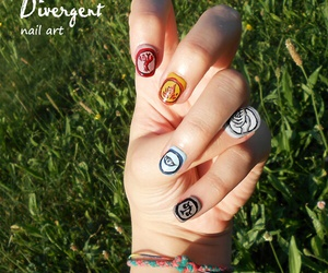 divergent, nails, and amity image