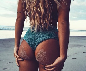 beach, blonde, and booty image