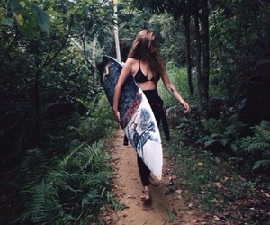 tropical, surf, and summer image