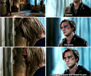 john murphy, the 100, and clarke griffin image