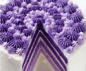 cake, purple, and sweet image