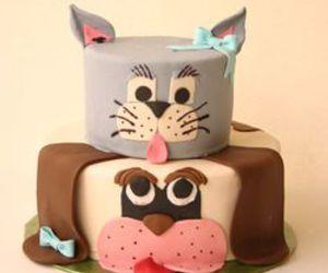 animals, birthday cake, and cake image