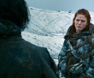 redhead, the wall, and jon snow image