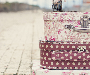vintage, pink, and travel image