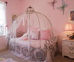 pink, bedroom, and princess image
