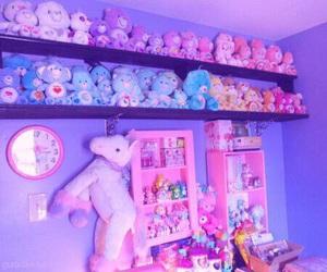room, purple, and kawaii image