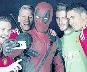 deadpool, manchester united, and bastian schweinsteiger image