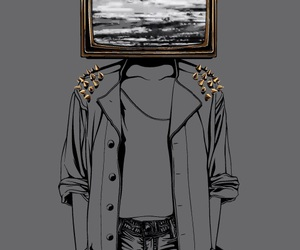 art, gold, and tv image