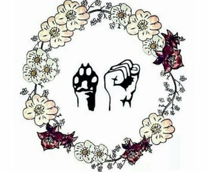 animal, vegan, and flowers image