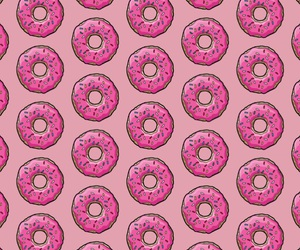 background, donuts, and iphone image