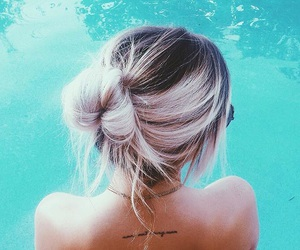 blue, hair, and summer image