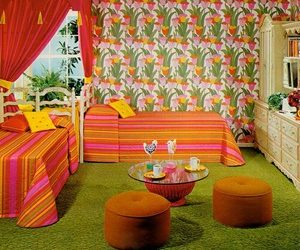 1970s, retro, and bedrooms image