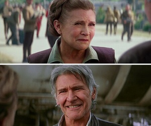couple, han solo, and star wars image
