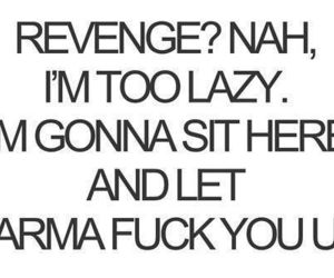 karma, revenge, and quotes image