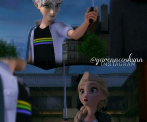 jack frost, elsa, and disney image