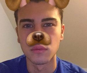 boy and snapchat image