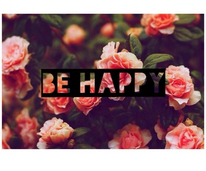 flower, happy, and pink image