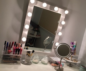 girl, mirror, and pink image