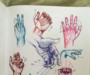 draw, hands, and sketchbook image