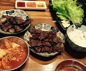 bbq, meat, and korean bbq image