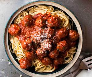 food, spaghetti, and delicious image
