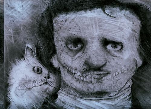 cat, edgar allan poe, and Edgar Allen Poe image