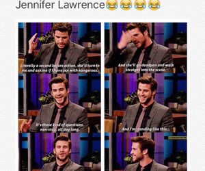 funny, hilarious, and Jennifer Lawrence image