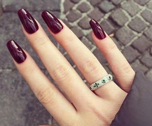 chic, nails, and ring image