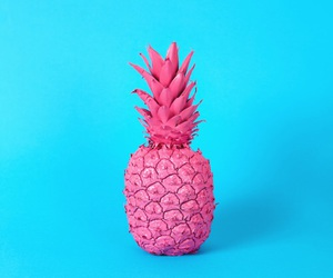 pink, blue, and pineapple image