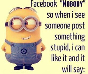 facebook, funny, and minions image