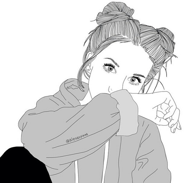 Dessin De Fille Trop Choux On We Heart It
