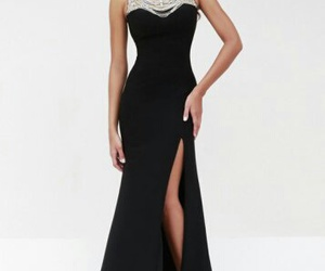 black, chic, and dress image