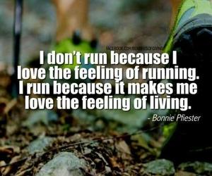running, run, and quote image