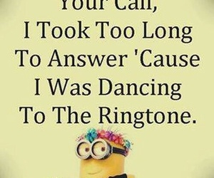 quotes, funny, and minions image